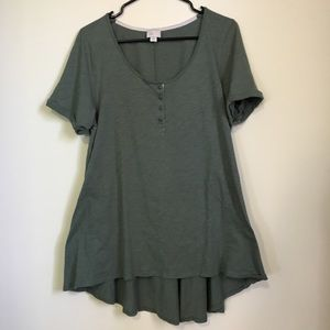 Postage Stamp Army Green Tunic Style XL